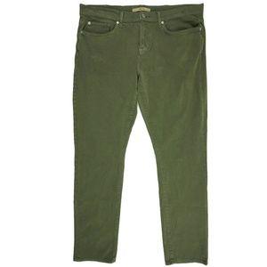 Joes Kinetic Mens Jeans Sz 38 Slim Fit Army Green